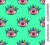 abstract seamless sport eyes... | Shutterstock .eps vector #1012684585