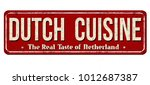 dutch cuisine vintage rusty... | Shutterstock .eps vector #1012687387