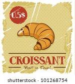 grunge cover. croissant on... | Shutterstock .eps vector #101268754