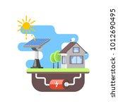 solar battery provides... | Shutterstock .eps vector #1012690495