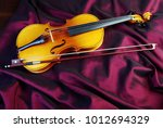 violin on a color background.... | Shutterstock . vector #1012694329