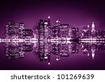 downtown manhattan  new york... | Shutterstock . vector #101269639