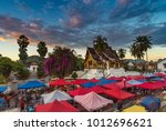 the night souvenir market in... | Shutterstock . vector #1012696621