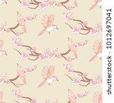 sakura seamless pattern. spring ...   Shutterstock .eps vector #1012697041