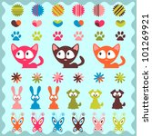 a set of cute childish stickers | Shutterstock .eps vector #101269921