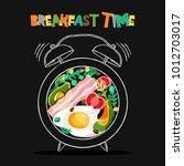 breakfast menu vector design.... | Shutterstock .eps vector #1012703017