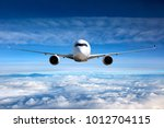 front view of aircraft in... | Shutterstock . vector #1012704115