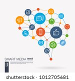 ai creative think system... | Shutterstock .eps vector #1012705681