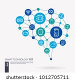 ai creative think system... | Shutterstock .eps vector #1012705711