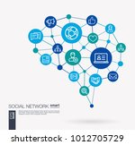 ai creative think system... | Shutterstock .eps vector #1012705729
