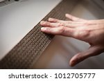detail shot of a white hand... | Shutterstock . vector #1012705777