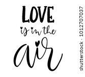 cute valentine's day lettering... | Shutterstock .eps vector #1012707037