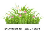 green grass with clover and... | Shutterstock .eps vector #101271595