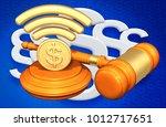 legal net neutrality concept 3d ... | Shutterstock . vector #1012717651