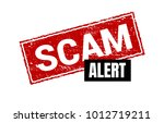 scam grunge red stamp. scam... | Shutterstock .eps vector #1012719211