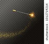 magic wand illustration on... | Shutterstock .eps vector #1012719214