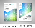 brochure template  flyer design ... | Shutterstock .eps vector #1012719871