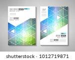 brochure template  flyer design ... | Shutterstock .eps vector #1012719871