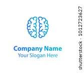 brain logo design  learning and ... | Shutterstock .eps vector #1012723627