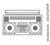 retro stereo cassette player... | Shutterstock .eps vector #1012723939