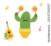 vector illustration of funny... | Shutterstock .eps vector #1012724257