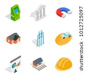 capital expenditure icons set.... | Shutterstock .eps vector #1012725097