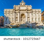 rome  trevi fountain. italy. | Shutterstock . vector #1012725667