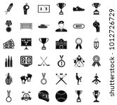 big award icons set. simple set ... | Shutterstock .eps vector #1012726729