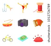 special hobby icons set....   Shutterstock .eps vector #1012726789