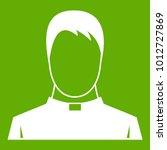 priest icon white isolated on... | Shutterstock .eps vector #1012727869
