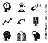 brilliant idea icons set.... | Shutterstock .eps vector #1012728901
