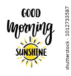 good morning sunshine nice... | Shutterstock .eps vector #1012733587