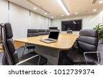 empty corporate conference room ... | Shutterstock . vector #1012739374