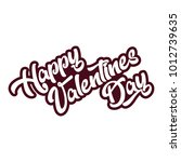 happy valentines day emblem... | Shutterstock .eps vector #1012739635