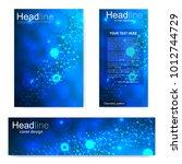 set flyer  brochure size a4... | Shutterstock .eps vector #1012744729