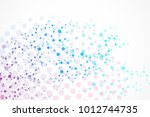 structure molecule and... | Shutterstock .eps vector #1012744735