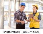 success asian engineers... | Shutterstock . vector #1012745821