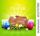 luxury easter template with... | Shutterstock .eps vector #1012747585