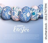 stylish easter background with... | Shutterstock .eps vector #1012747594