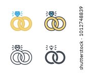 wedding ring icon vector   Shutterstock .eps vector #1012748839