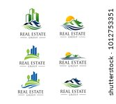 nature real estate logo pack. 6 ... | Shutterstock .eps vector #1012753351