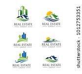 nature real estate logo pack. 6 ... | Shutterstock .eps vector #1012753351