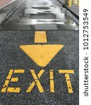 Exit Sign With Arrow On...