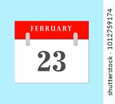 23 february calendar icon in...