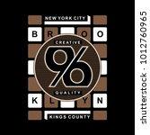 brooklyn typography t shirt... | Shutterstock .eps vector #1012760965
