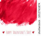 happy valentine's day  red... | Shutterstock .eps vector #1012761874