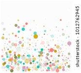 tender romantic confetti ... | Shutterstock .eps vector #1012762945