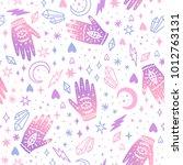 cute magic seamless pattern.... | Shutterstock .eps vector #1012763131