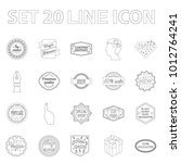 different label outline icons... | Shutterstock . vector #1012764241