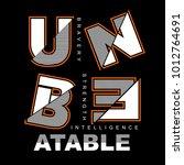 unbeatable typography t shirt... | Shutterstock .eps vector #1012764691